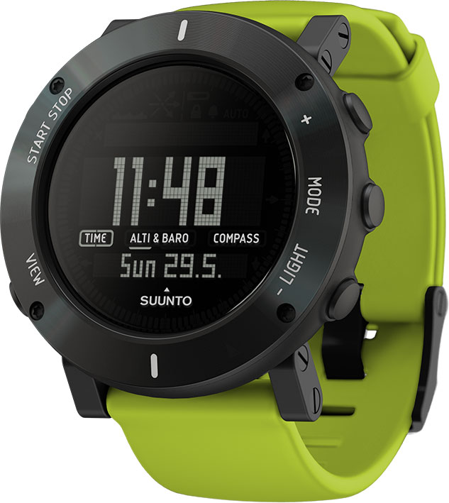 suunto core lime crush outdooruhr h henmesser barometer kompass neu ebay. Black Bedroom Furniture Sets. Home Design Ideas